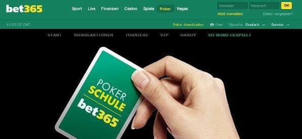 Pokerschule auf bet365.com