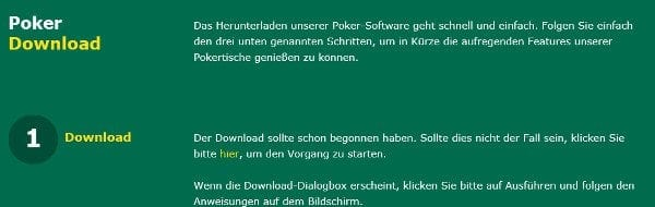 Installation & Download der Poker-Software von bet365
