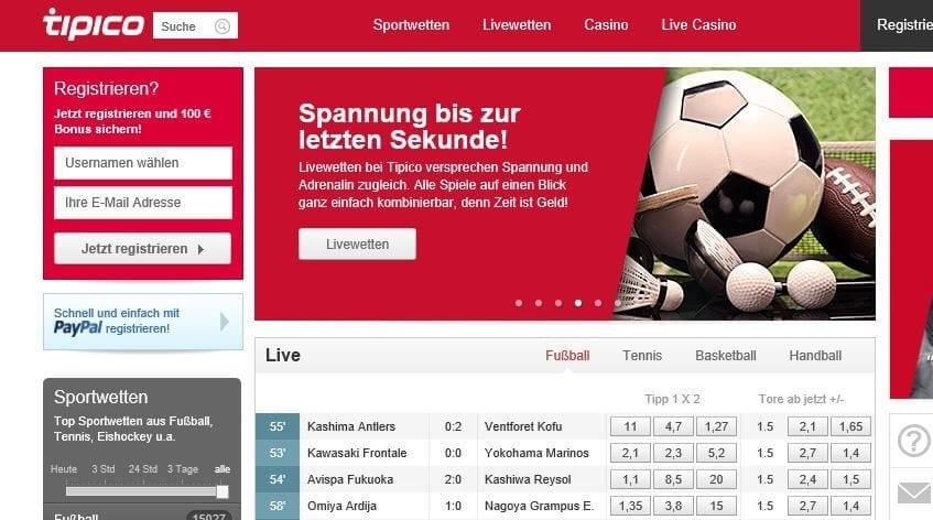 Konto-Eröffnung mit persönlichem PayPal-Account bei Tipico Poker