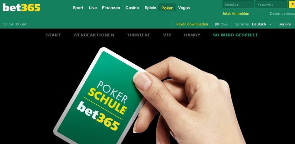 Pokerschule von bet365 Poker