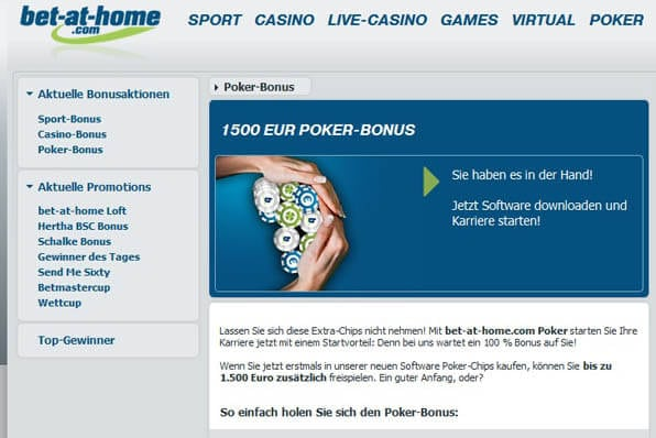 Bonusangebot bei bet-at-home