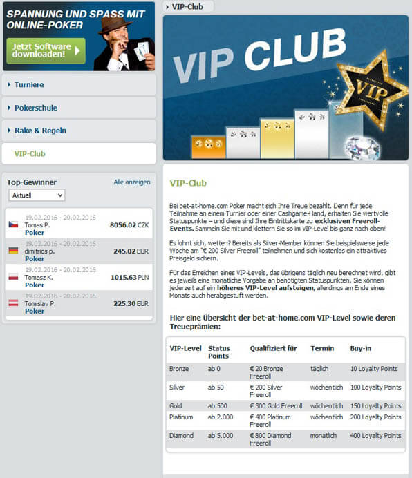 VIP Club bei bet-at-home