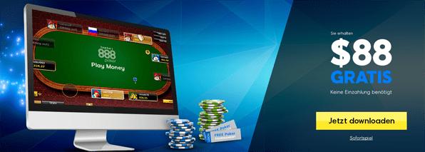 Der No Deposit Bonus von 888 Poker