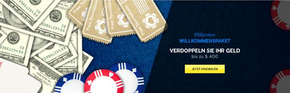 Der Einzahlungsbonus von 888 Poker