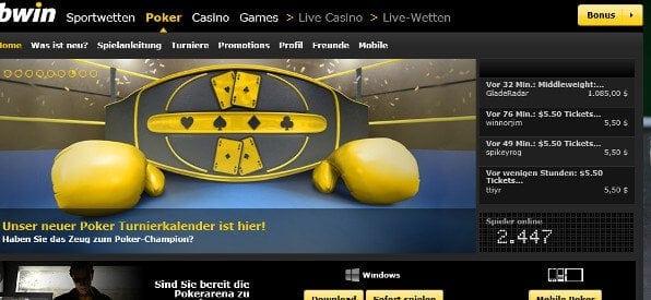 Pokern bei bwin auf poker.bwin.com