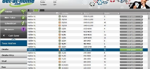 bet-at-home Poker Software für Windows