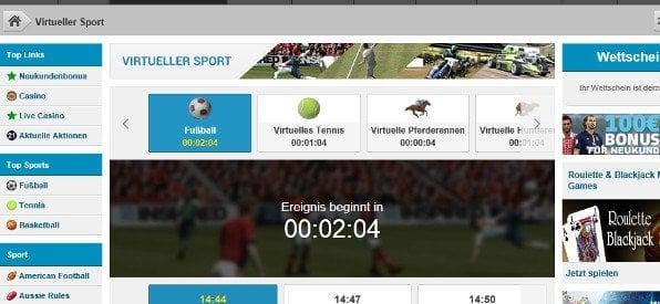 Virtueller Sport auf betvictor.com