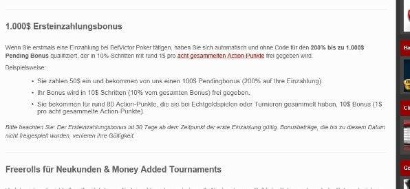 Neukundenbonus auf betvictor.com