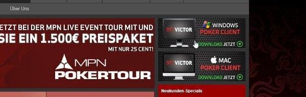 BetVictor Poker Software Download auf betvictor.com