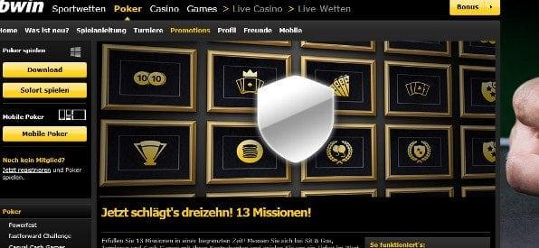 Poker Missions auf bwin.com