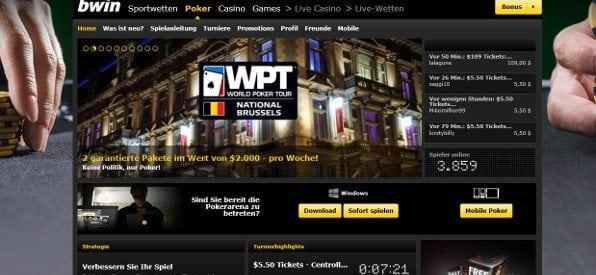 Qualifier Turniere für WPS Turniere auf bwin.com