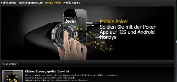 Mobile App Angebot auf bwin.com