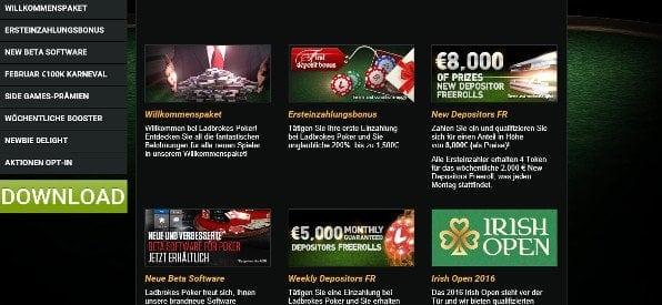 poker-Zusatzangebote auf ladbrokes.com