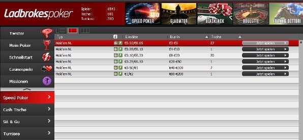 Ladbrokes Poker Software für Windows