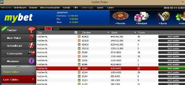 mybet Poker Software für Windows
