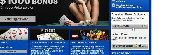 Software-Download auf mybet.com