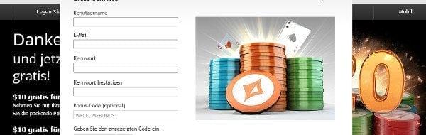 Kontoerstellung auf de.partypoker.com