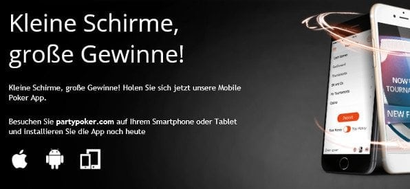App-Angebot von Party Poker