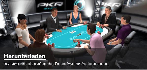 Bei PKR fühlt man sich aufgrund der 3D-Animation tatsächlich am Tisch