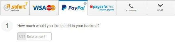PayPal-Zahlungen werden auch zunehmend von Online Pokerseiten angeboten, wie etwa hier von 888 Poker.