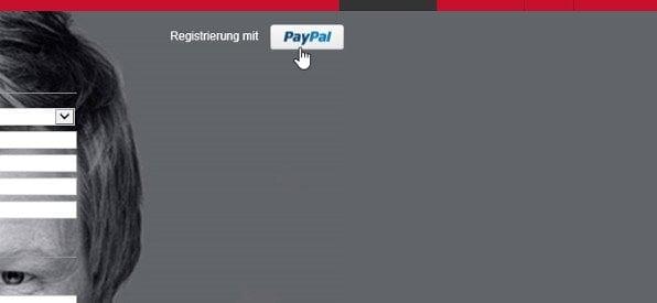 PayPal-Anmeldung bei tipico.com