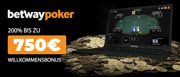 Betway Poker Bonus 750
