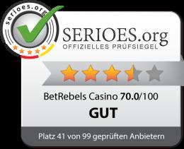BetRebels Casino Siegel