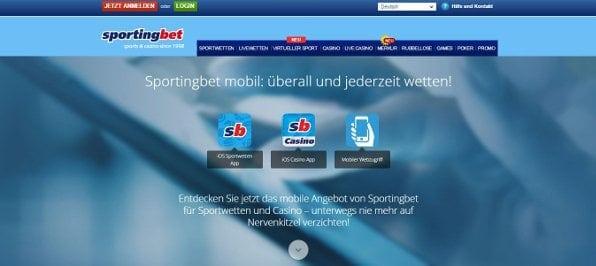Die Sportingbet App enthält alle Wettoptionen und ist für jedes gängige System geeignet