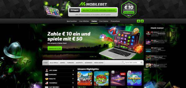 Mobile Casino Zusatzangebot
