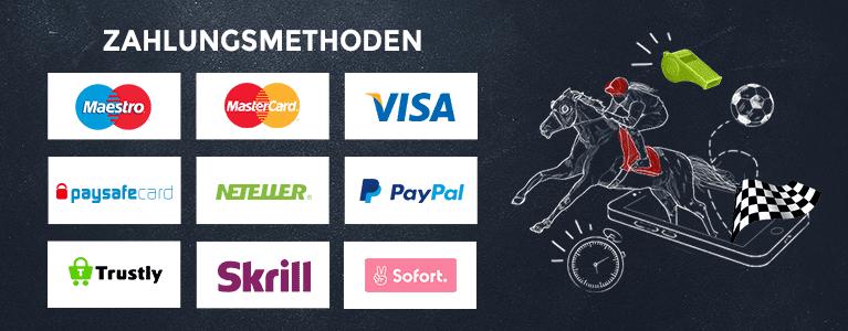 Comeon bietet einige Zahlungsmethoden wie beispielsweise Kreditkarten und E-Wallets