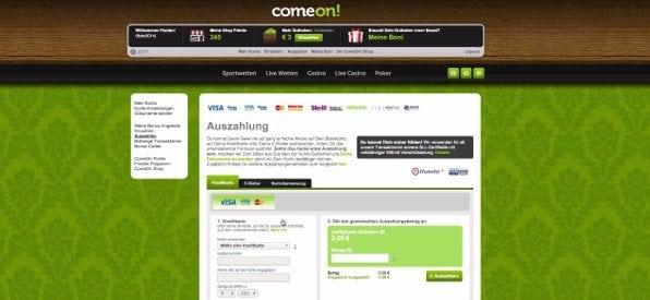 Die Auszahlung bei Comeon: Komplett Gebührenfrei und unkompliziert