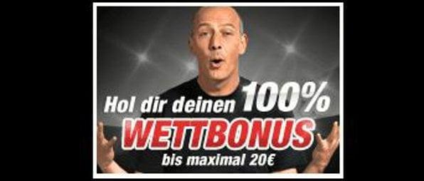 Neue Kunden erhalten einen 100igen Wettbonus von bis zu 20€