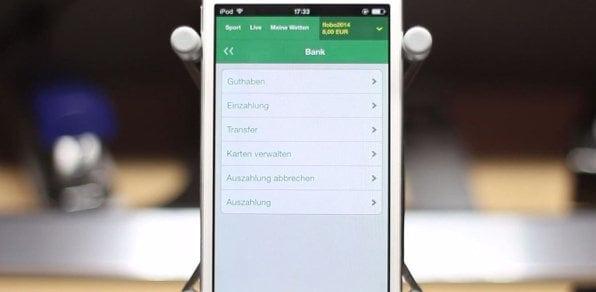 Auszahlungen und weitere Banking Funktionen sind auch mobil verfügbar