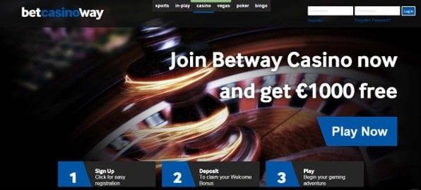 Im betway Casino erhalten Sie einen Bonus von bis zu 1000€