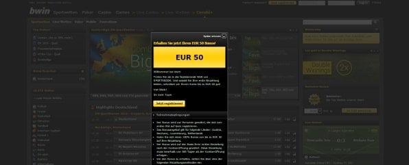 Neukunden erhalten einen 100% bis 50€ Bonus auf die erste Einzahlung