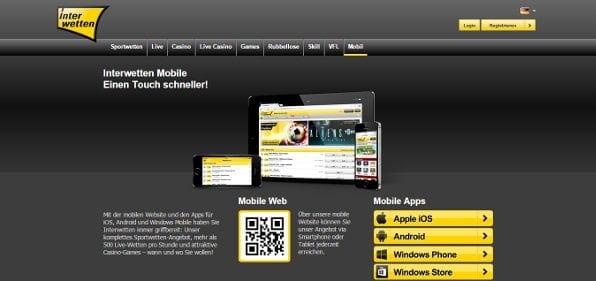 benutzerfreundliche App für alle gängigen Systeme zum unkomplizierten Wetten von Unterwegs