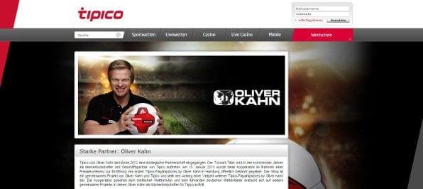 Oliver Kahn - Werbepartner von tipico