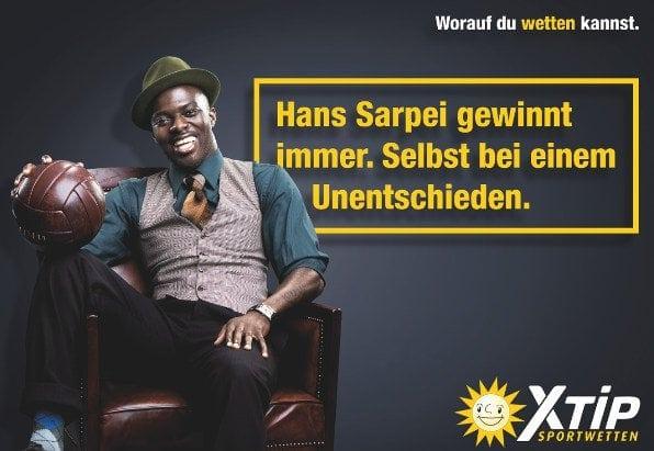Das Werbegesicht von X-Tip: Hans Sarpei