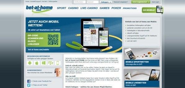 Ansprechende mobile Webseite mit kurzen Ladezeiten bietet volles Wettvergnügen