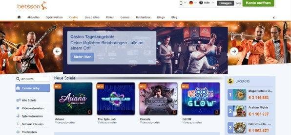 Attraktives Casino bietet viele Spiele und Aktionen