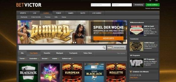 Das Betvictor Casino besticht durch schickes Design und eine Vielzahl an Spielen