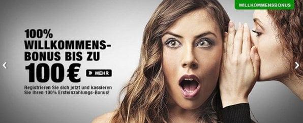Neue Kunden erhalten bei Cashpoint einen 100igen Bonus von bis zu 100€