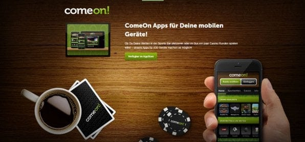 Die Web App von Comeon bietet nahezu alle Funktionen auch für die Nutzung von Unterwegs