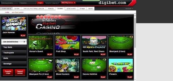 Das digibet-Casino bietet eine ordentliche Auswahl an spielen, jedoch keinen Treuebonus