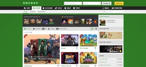 Das Casino von Unibet besticht durch eine große Spielauswahl und attraktive Aktionen