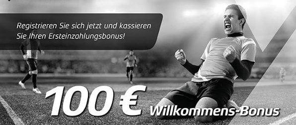Neue Kunden erhalten einen 100%igen Matchbonus von bis zu 100 Euro