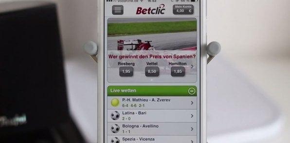 Übersichtlichkeit und attraktives Design machen die Bedienung der betclic-App einfach und angenehm.