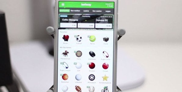 Die betway-App bietet alles, was man braucht, um auch von unterwegs seine Wetten platzieren zu können.