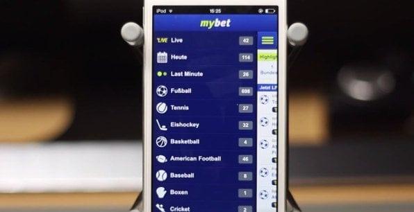 Auch die mybet-App bietet ein großes Wettangebot mit einer Vielzahl an Sportarten.