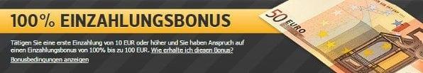 Neue Kunden erhalten bei Racebets einen Bonus von bis zu 100€